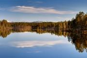 Panorama an einem See in Mittelschweden