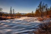 Fluss im Gebiet des Grövelsjön in Schweden