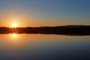 Panorama Sonnenuntergang an einem See in Dalarna