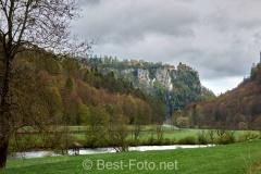 Radtour an der Donau - im oberen Donautal vor Fridingen