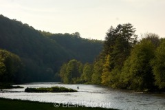 Radtour an der Donau - Fliegenfischer in der Ilz